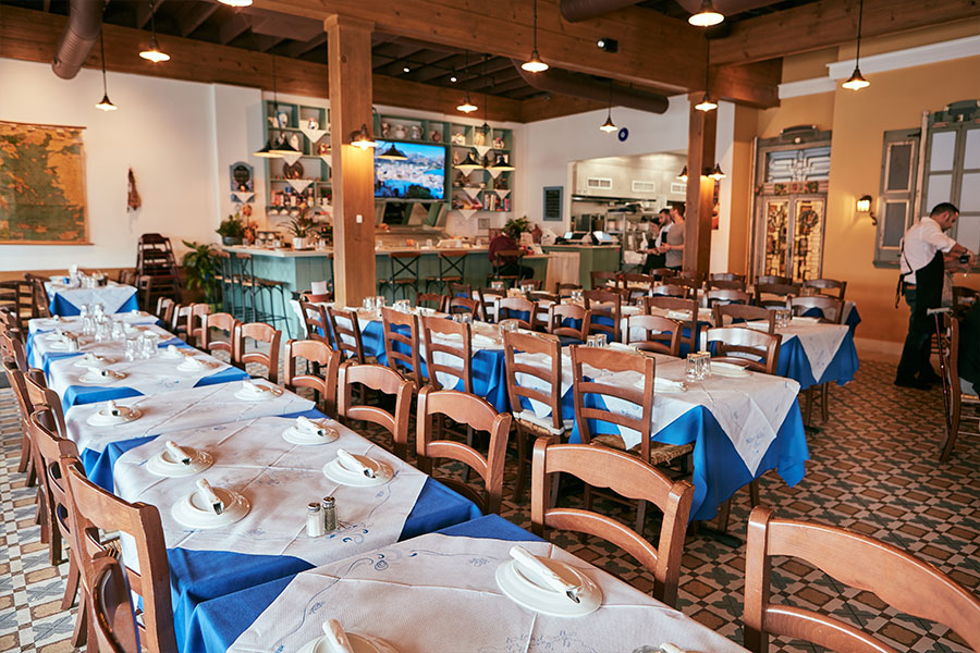 Stamna Greek Taverna Bloomfield Tables