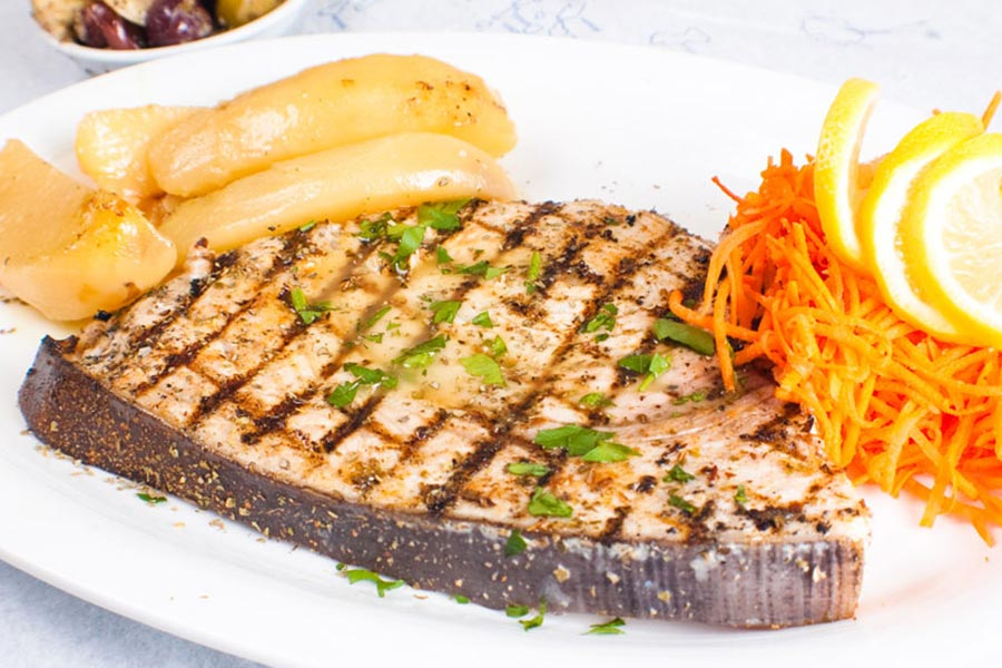 Stamna Greek Taverna Grilled Swordfish