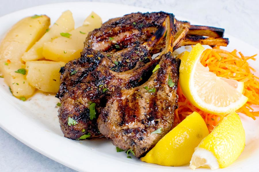 Stamna Greek Taverna Lamb Chops