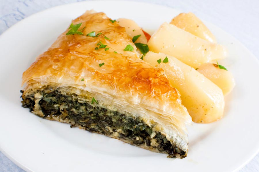 Stamna Greek Taverna Spinach Pie