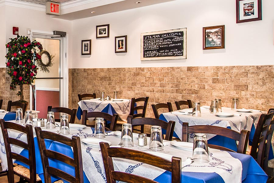 Stamna Greek Taverna Little Falls Tables