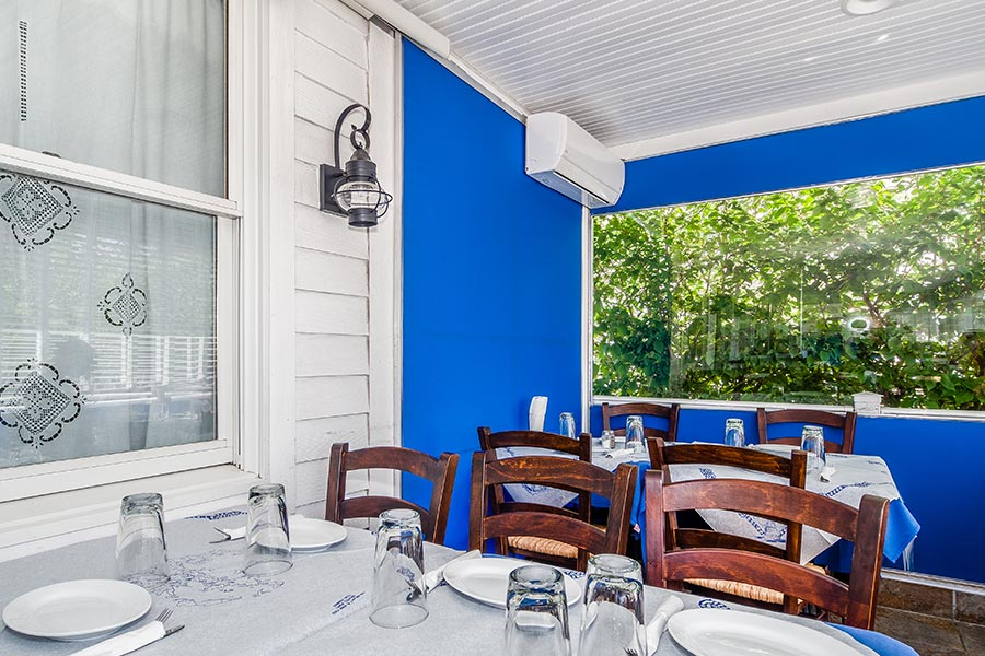 Stamna Greek Taverna Little Falls Outdoor Dining